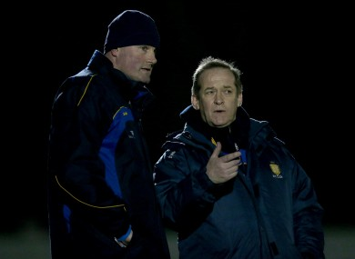 Mick Bohan (left) with Clare senior football team manager Colm Collins.