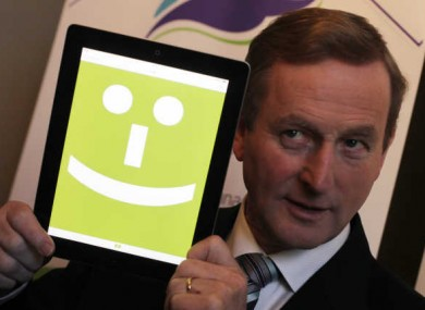 Taoiseach Enda Kenny is very happy with Apple.