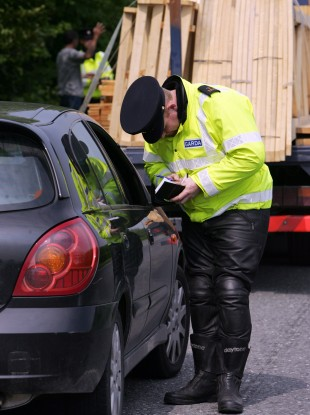 File photo of a garda checkpoint