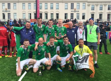 The Irish team pictured at the 2016 Homeless World Cup.