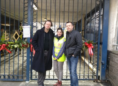 Terry, Rosi and Brendan at Apollo House today