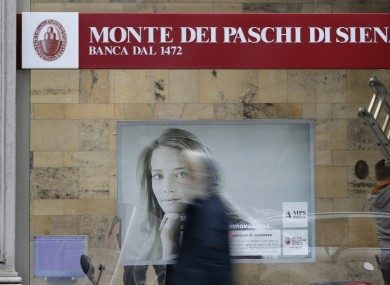 A view of a ' Monte Dei Paschi di Siena ' bank branch in Milan, Italy this week.