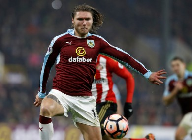 Burnley's Jeff Hendrick is expected to feature this weekend.