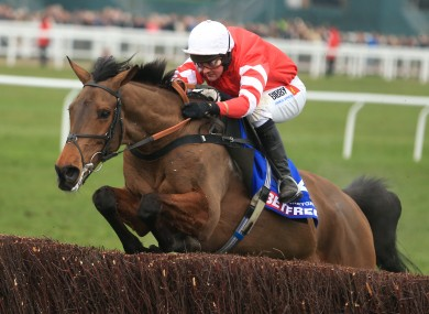 Nico De Boinville steers Coneygree to Cheltenham Gold Cup glory in 2015.