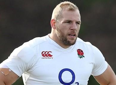 England flanker James Haskell.