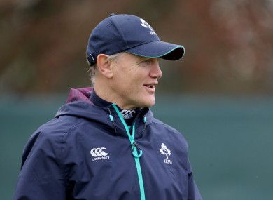 Ireland head coach Joe Schmidt.