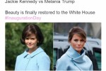 This tweet tried to compare Melania Trump to Jackie Kennedy, and failed spectacularly
