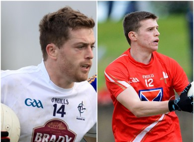Key goals for their teams today for Kildare's Niall Kelly and Louth's ConalMcKeever