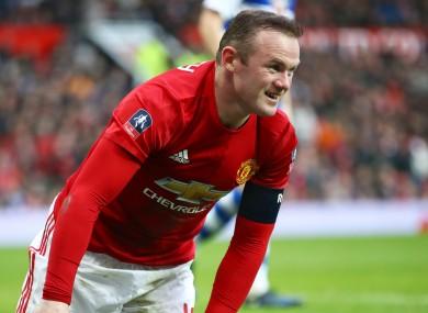 Manchester United captain Wayne Rooney.