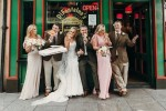 This newly married couple stopped in to DiFontaine's in Dublin for a bit of post-wedding pizza
