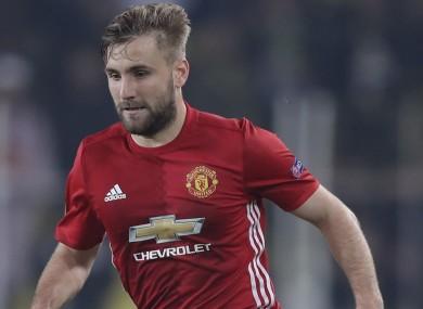 Luke Shaw has struggled to get into Man United's starting XI this season.