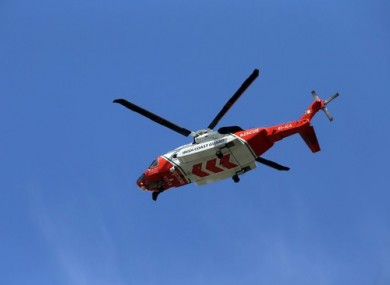 A Coast Guard helicopter.