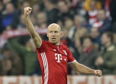 Bayern Munich's Arjen Robben.
