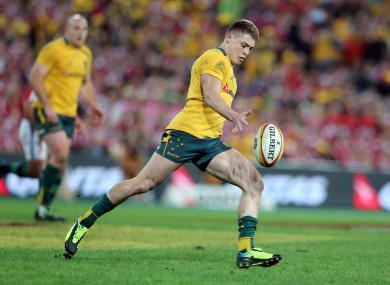 O'Connor was the Wallabies' out-half for the 2013 Lions Test series.