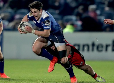 Joe Carbery in action for Leinster last week against Edinburgh.