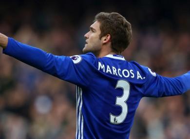 Chelsea's goalscoring full-back Marcos Alonso