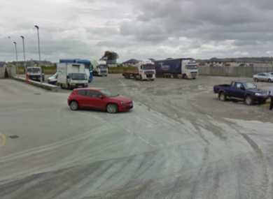 The man's body was found at a truck parking area at the Fermoy garage.