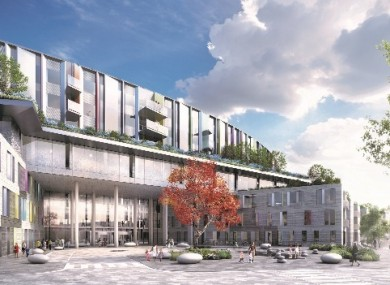 Plans for the new children's hospital at the St James' site.