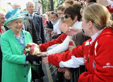 Queen Elizabeth II visits the English Market in Cork.