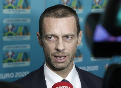 Uefa boss Aleksander Ceferin is looking for a more European teams at the 2026 World Cup.