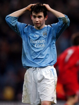 Karl Moore pictured during Manchester City's FA Youth Cup final second leg against Liverpool in April 2006.