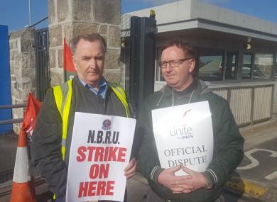 Bus Éireann workers Gerry Hudson and Eamon McGann