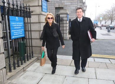 Jackie Lavin and Bill Cullen arriving at the Four Courts Dublin in November 2014.