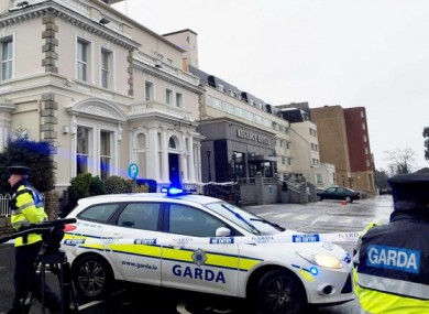Gardaí outside the Regency Hotel after the shooting last year