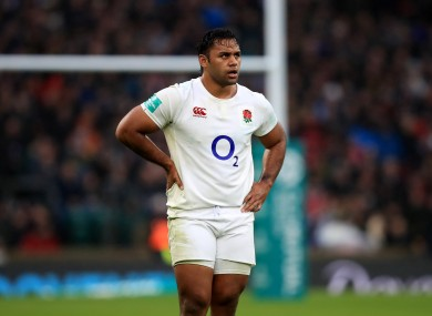 Billy Vunipola will be back in an England jersey this weekend.