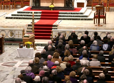 The remains of Eamonn Casey were taken to the Galway church yesterday evening.