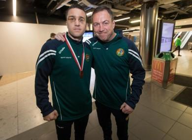 Irish boxer David Joyce with Eddie Bolger (right).