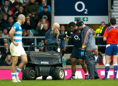 Billy Vunipola leaves the November Test injured.