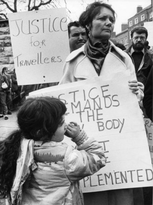 Nan Joyce, spokesperson for the Travellers on the March in 1984.