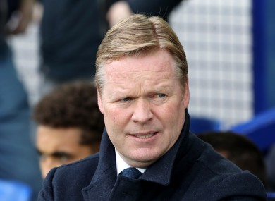 Ronald Koeman (file pic).