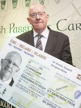 Minister Charlie Flanagan at the launch of the passport card in 2015