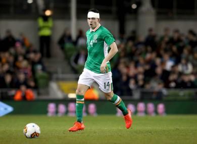 John Egan made his senior Ireland debut last night.