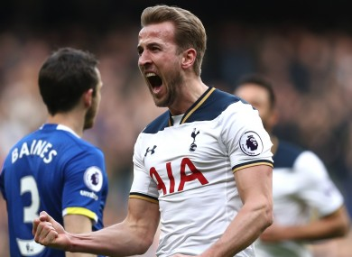 Kane is the top goalscorer in the Premier League this season.