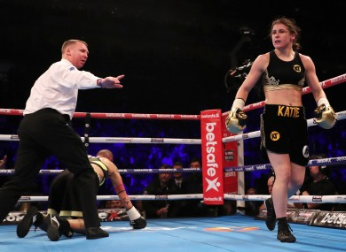Taylor won with a fifth round stoppage on Saturday night.