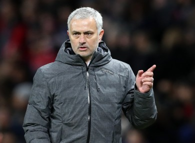 Manchester United manager Jose Mourinho after the UEFA Europa League Round of 16.