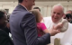 This little girl met the Pope... and slyly nicked his hat