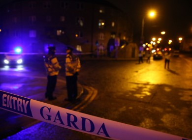 Gardaí at the scene at the murder of Eddie Hutch Snr.