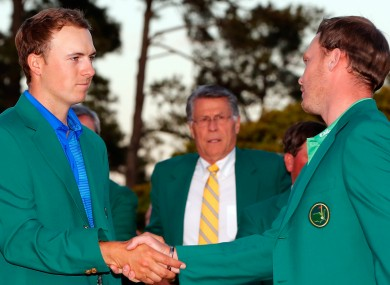Danny Willett and Jordan Spieth at the 2016 Masters.