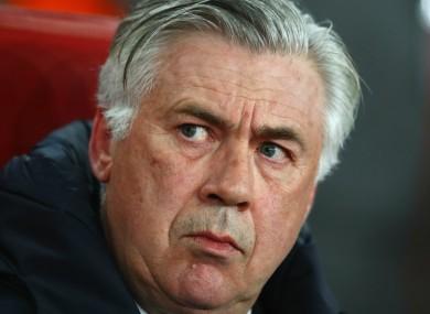 Bayern Munich boss Carlo Ancelotti.