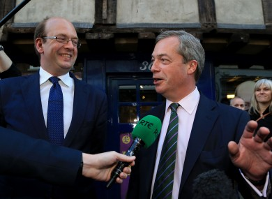 Ukip leader Nigel Farage (right) with Mark Reckless.