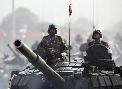 File photo of Myanmar troops