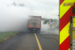 Rush hour warning to drivers as truck catches fire on Naas Road