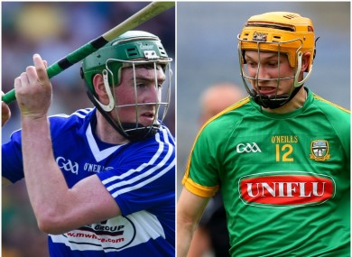 Laois's Paddy Purcell and Adam Gannon of Meath