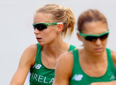 Claire Lambe (left) represented Ireland at the 2016 Olympics with rowing partner Sinead Lynch (right). Last week, she became the first Irish international to be part of winning team in the Boat Race.