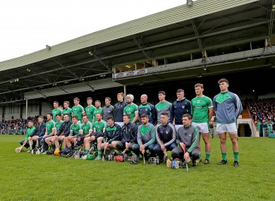 The Limerick hurling panel before their league semi-final against Galway.