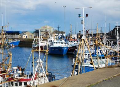 The harbour in Kilkeel, Co Down.